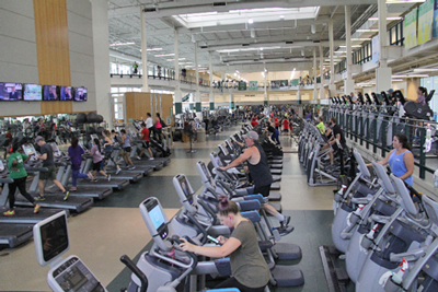 View inside of Pohl Rec Center exercise area