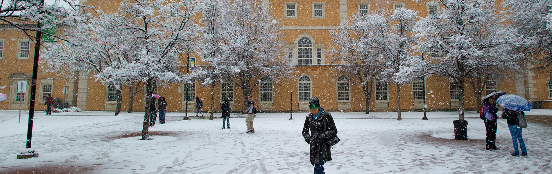 UNT enjoys a few snow days each year.