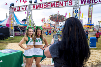 UNT Cheer at 2017 North Texas Fair